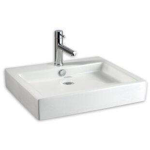 Compare & Buy Studio Ceramic Rectangular Vessel Bathroom Sink with Overflow ByAmerican Standard