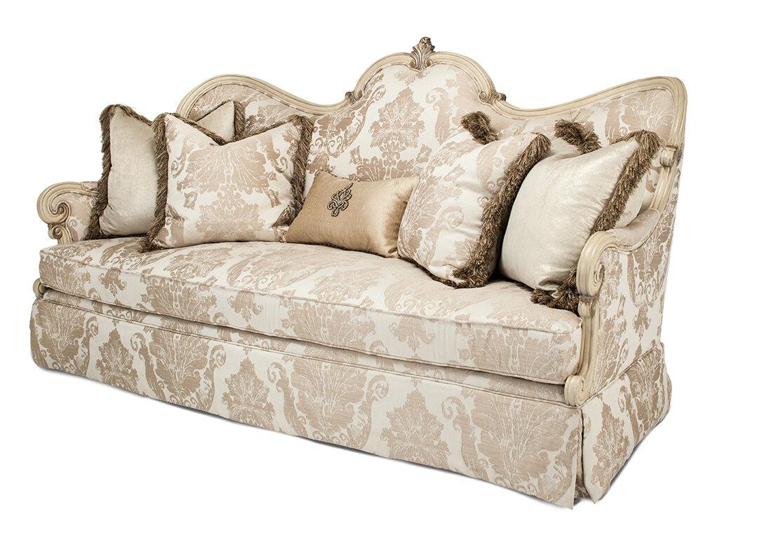 Michael Amini Platine De Royale Sofa | Wayfair