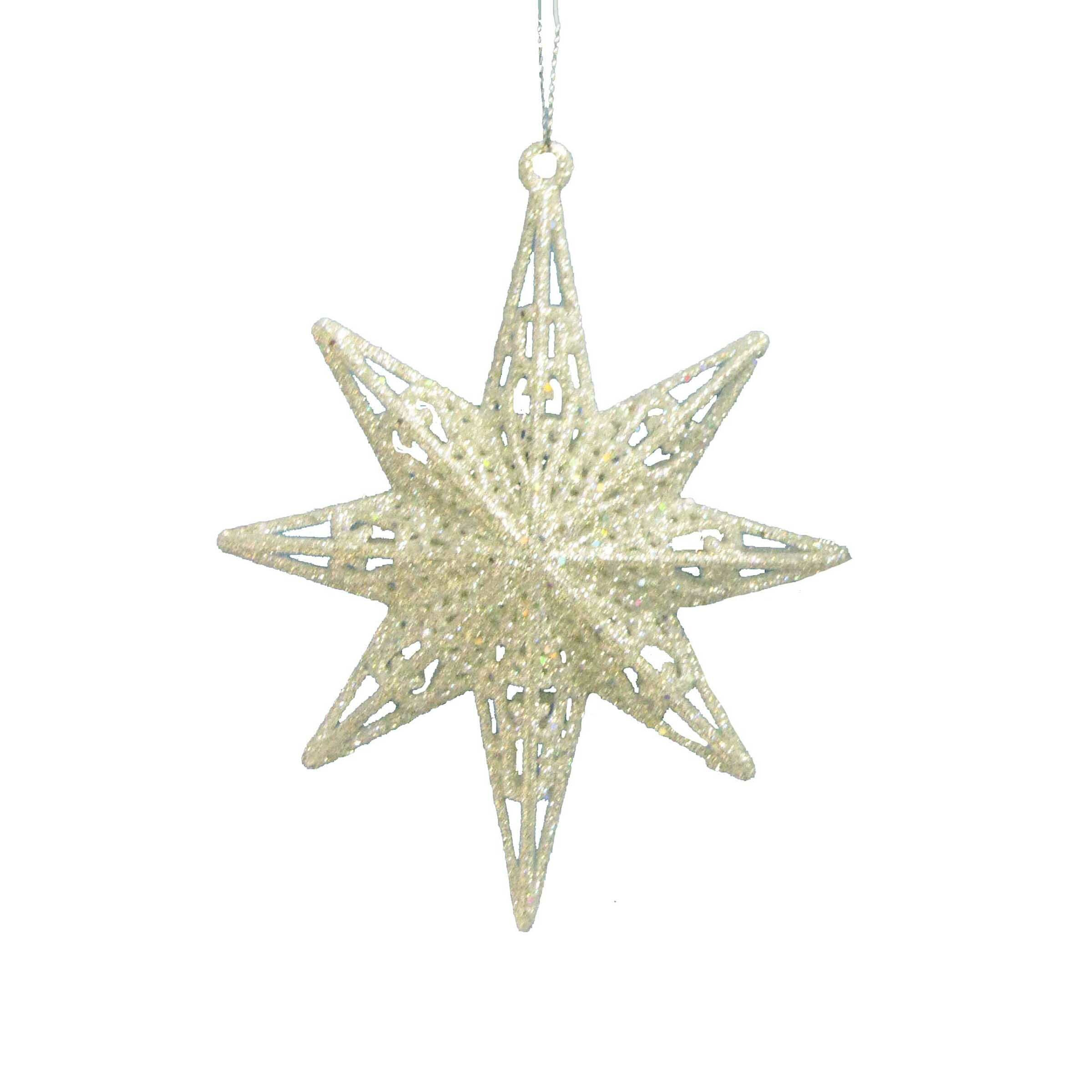 Glitter 8 Point Star Holiday Shaped Ornament Reviews Birch Lane