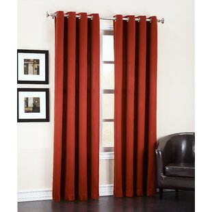 Groton Solid Room Darkening Grommet Single Curtain Panel