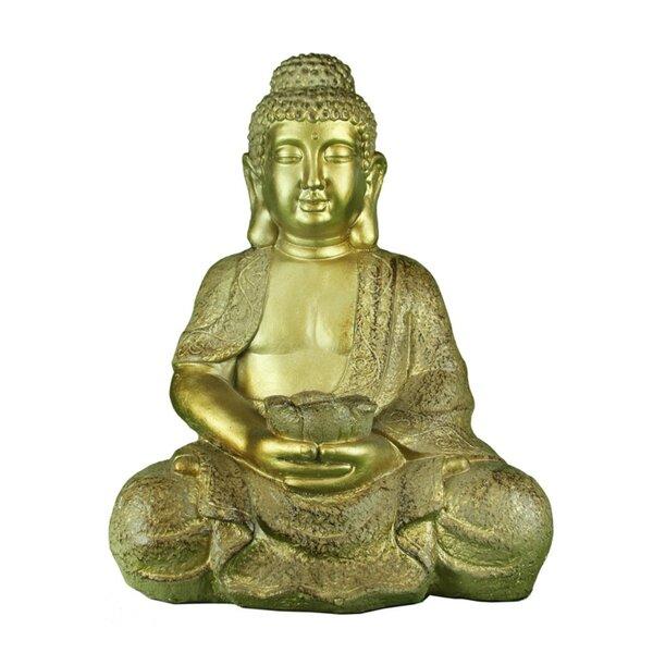 World Menagerie Costillo Polyresin Sitting And Meditating Buddha Figurine Wayfair