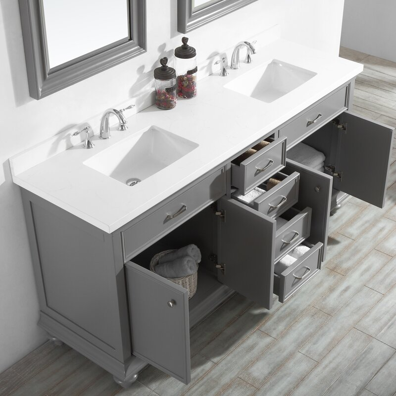 "Weisner 72"" Bathroom Vanity Set with Mirror"