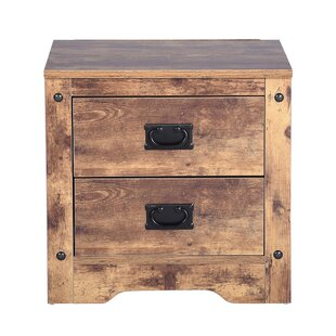 Kessler 2 Drawer Bedside Table By Alpen Home