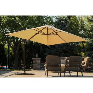 Blue Wave Products Santorini ll 9.7' Square Cantilever Sunbrella Umbrella