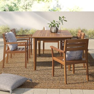 Kassidy Outdoor Rectangular 7 Piece Dining Set