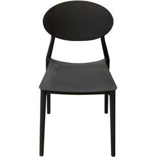 Jae Plastic Stacking Patio Dining Chair (Set of 4) by Orren Ellis