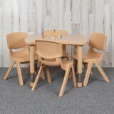 "5 Piece Rectangular Activity Table & 10.5"" Chair Set"