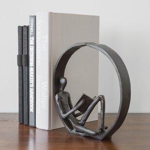 Landy Encircled Reader Iron Figurine
