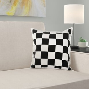 Checkered Squares Art Pillow Cover