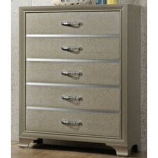 House of Hampton Scarlet 5 Drawer Chest