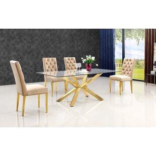 Woodland 5 Piece Dining Set Everly Quinn