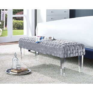 Tracey Metal Upholstered Bench by Everly Quinn