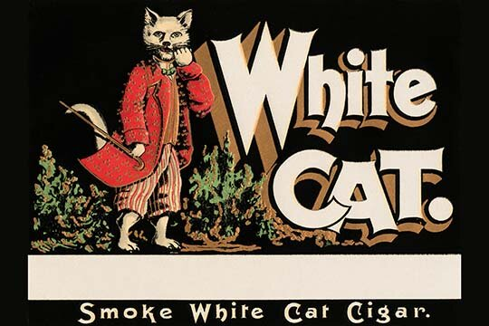 Buyenlarge White Cat Brand Cigars Vintage Advertisement Wayfair