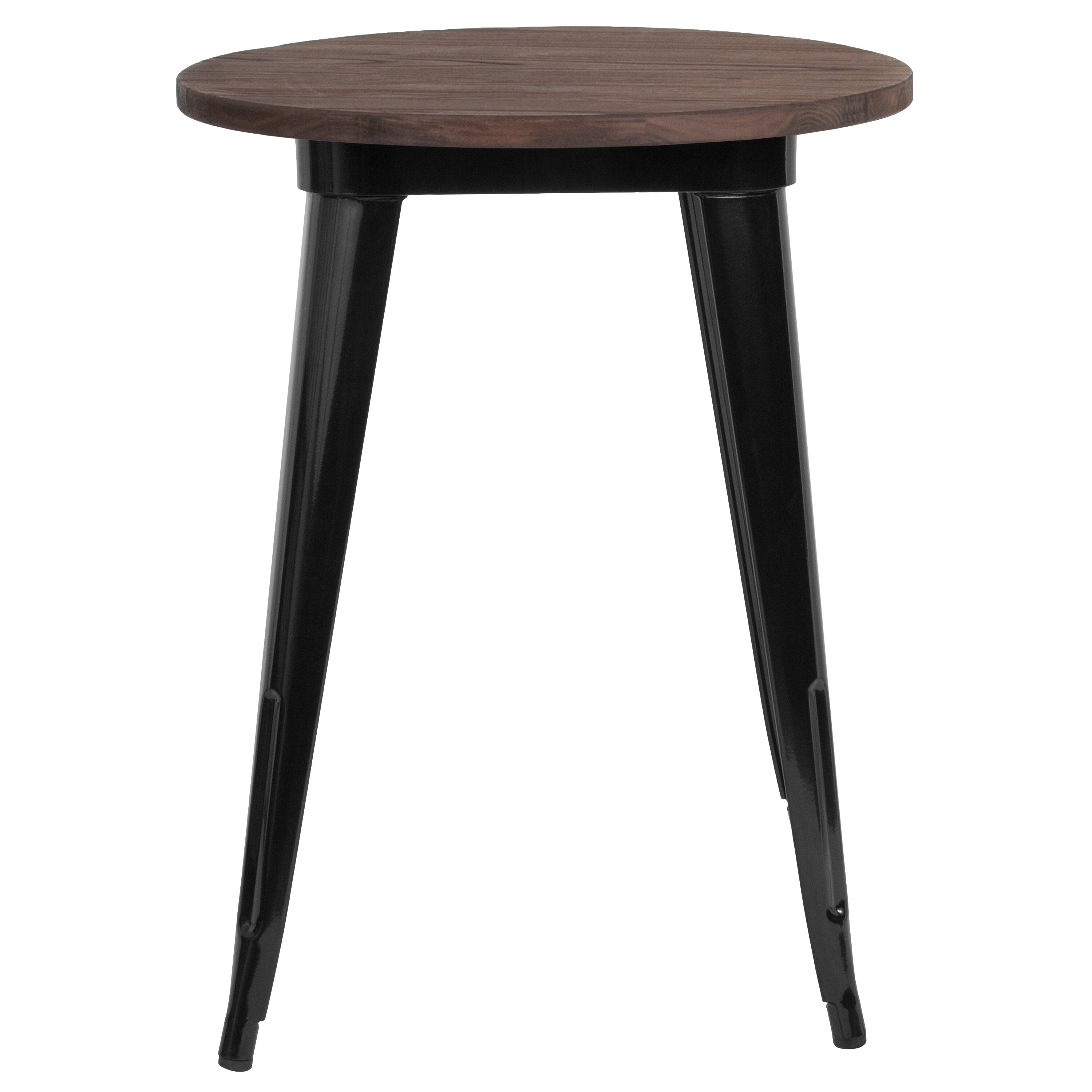 Picture of: Williston Forge Dorset Rustic Metal Solid Wood Dining Table Reviews Wayfair