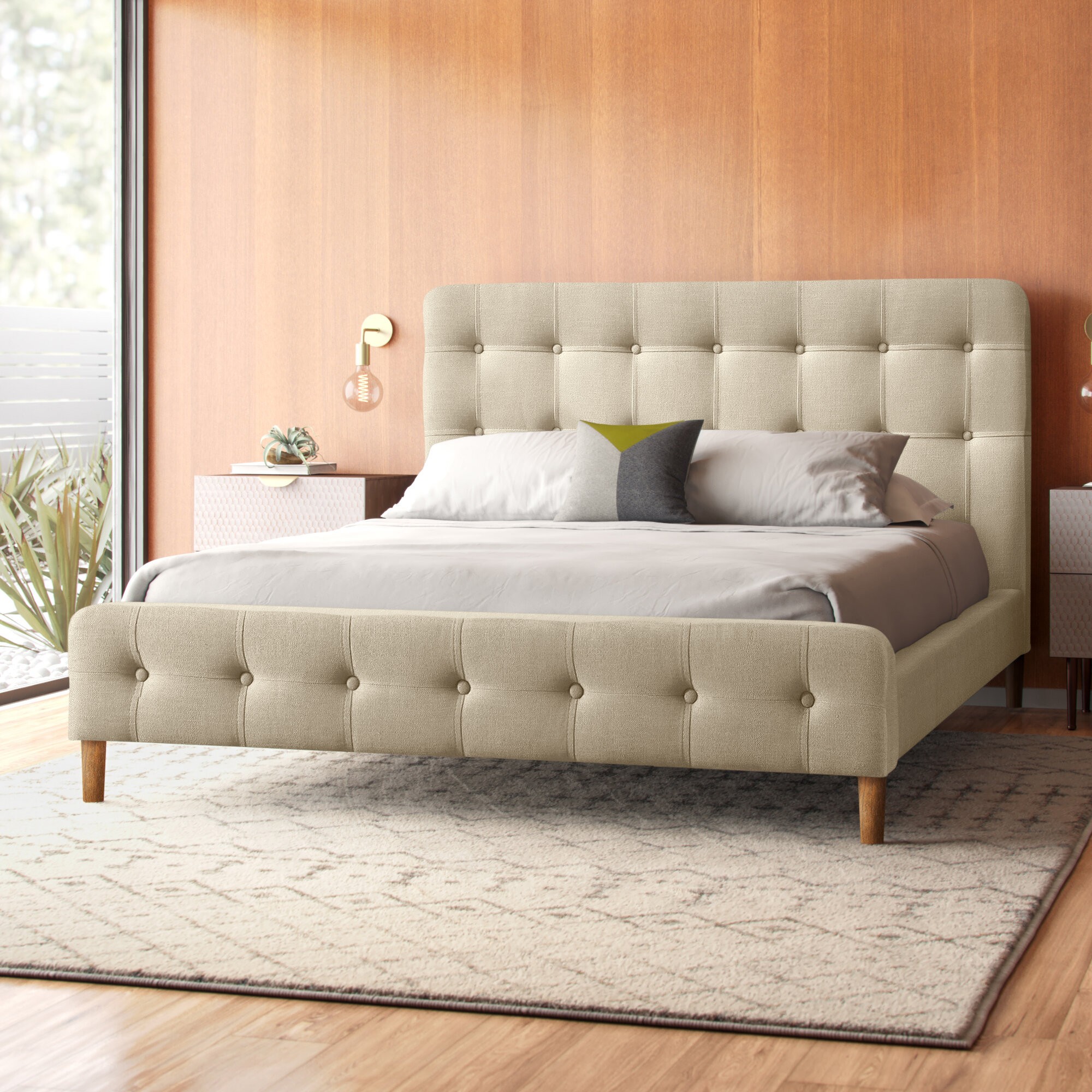 Tania Queen Upholstered Platform Bed Reviews Allmodern