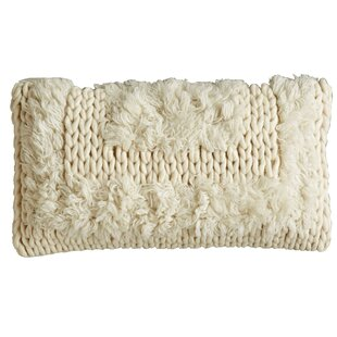 Gil Tribal Natural Wool Lumbar Pillow