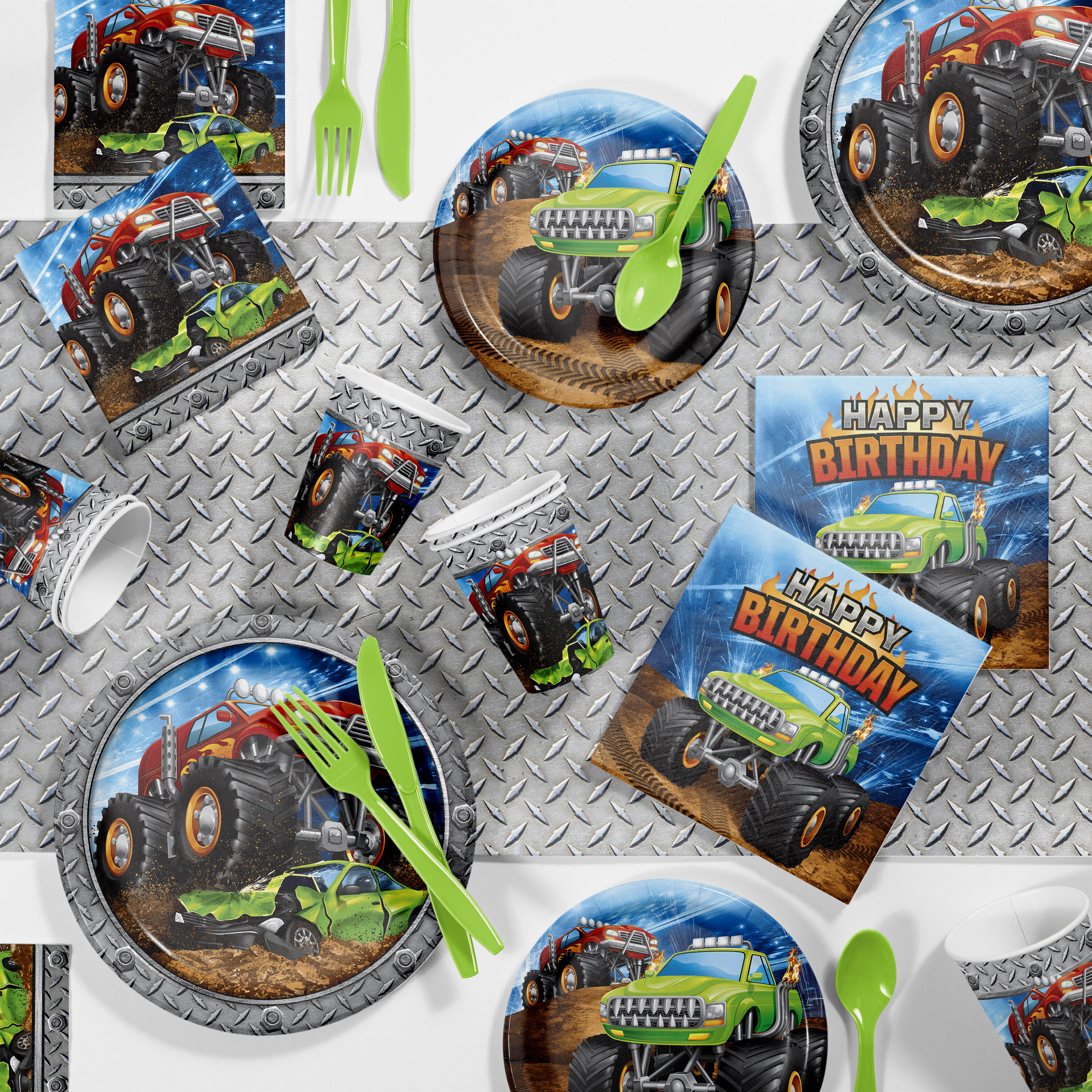 Creative Converting Monster Truck Birthday Party Party Supplies Kit Guests Wayfair