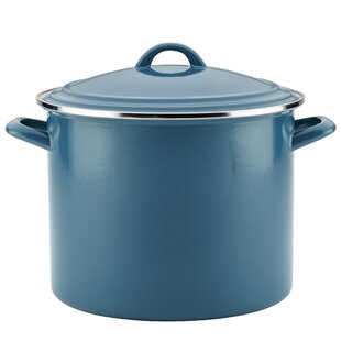 Ayesha Curry 12 qt. Enamel on Steel Stock Pot with Lid