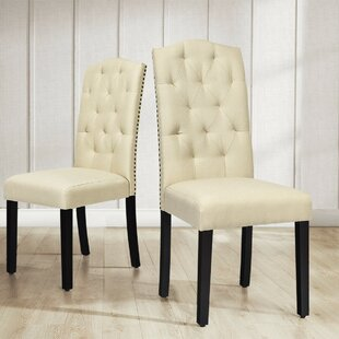 Eastport Tufted Linen Upholstered Parsons Chair