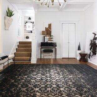 Black Living Room Rugs. Journey Black Area Rug Rugs  Joss Main