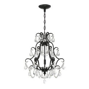 Rosdorf Park Bischoffs 3-Light Candle Style Chandelier