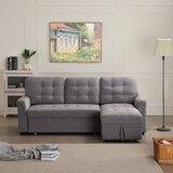 Dennese 86 Wide Sleeper Sofa & Chaise by Latitude Run®