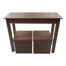 Console Table and 2 Matching Storage Ottoman by Upscale Designs by EMA
