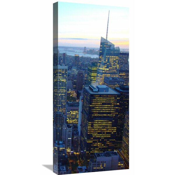 Global Gallery New York City Skyline At Dusk Right Photographic Print On Wrapped Canvas Wayfair