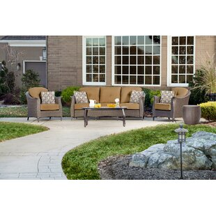 Daigle 5 Piece Sofa Seating Group with Cushions