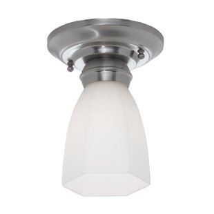 Kiser Hexagonal 1-Light Semi Flush Mount by Ebern Designs