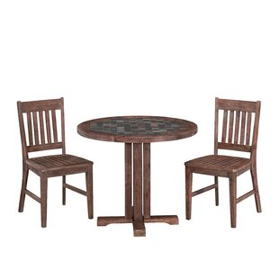 Millwood Pines Lakewood 3 Piece Dining Set
