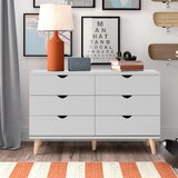 Bowie 6 Drawer Double Dresser by Trule