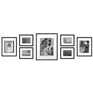 Alexander 7 Piece Wood Matted Picture Frame Set