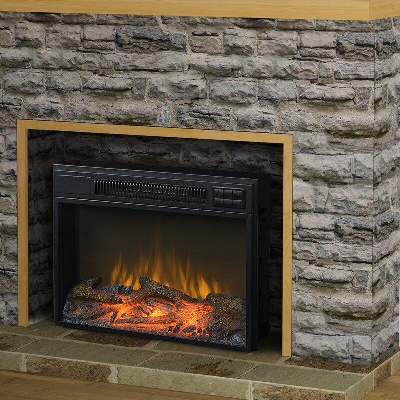 Electric Fireplace small electric fireplace insert : Homestar Flamelux Electric Fireplace Insert & Reviews | Wayfair