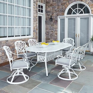 Nori 7 Piece Dining Set with Cushions by One Allium Way