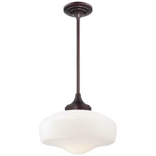 Latitude Run Derouen Contemporary 1-Light Schoolhouse Pendant