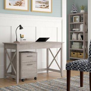 KeyWest Desk, Bookcase, Filing Cabinet Set by Beachcrest Home