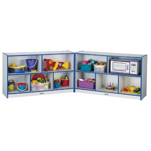 Check Prices Rainbow Accents® Low Folding 10 Compartment Shelving Unit with Locks By Jonti-Craft