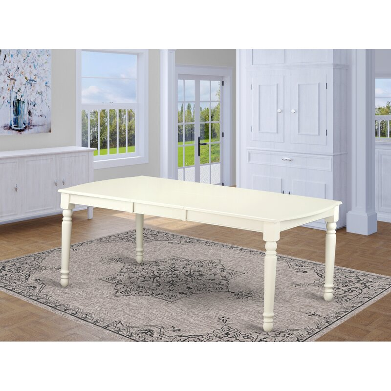 August Grove Pimentel Extendable Solid Wood Dining Table Reviews Wayfair