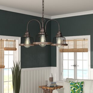 Beachcrest Home Murillo 3-Light Shaded Chandelier