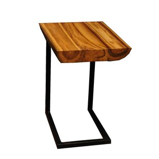 Labarge Teak End Table by Union Rustic