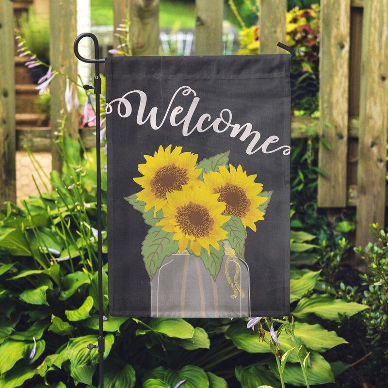 Sunflower Welcome 2 Sided Polyester 1u00276x1 Garden Flag