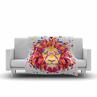 Read Reviews Ancello Rainbow Lion Digital Fleece Blanket ByEast Urban Home