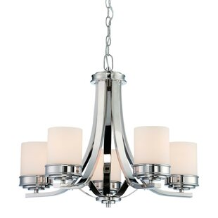 Charlton Home Pottorff 5-Light Shaded Chandelier