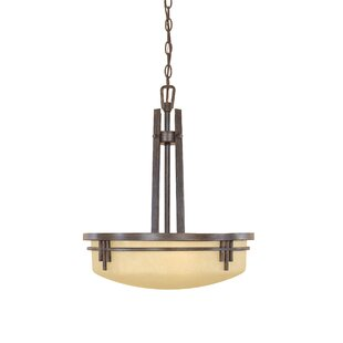 Millwood Pines Caleigh 3-Light Bowl Pendant