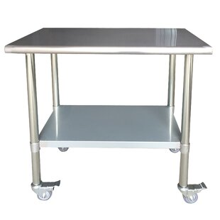 Stainless Steel Top Workbench With Casters