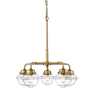 Brielle 5-Light Shaded Chandelier by Breakwater Bay
