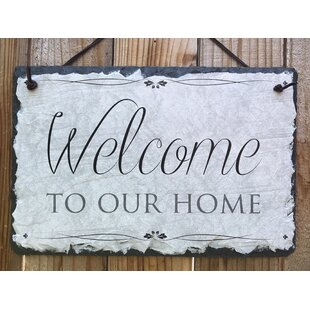 418e433bc28 Welcome To Our Home Wall Décor