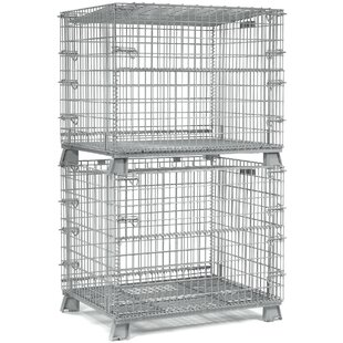 Folding Wire Container by Nexel