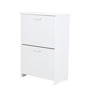 Shoe Cabinet In White By Symple Stuff